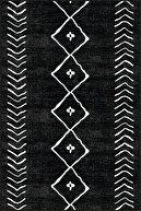Viva Home Kaymaz Tabanlı Kesme Yolluk Morocco Siyah Ar315