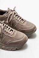 Elle Vizon Deri Kadın Spor Ayakkabı