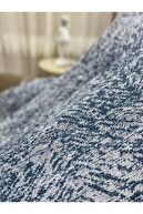 Özlü Home Lüks Pamuklu Koltuk Örtüsü Kot Mavisi 170x220