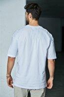 Sateen Men Erkek Beyaz-Bej Çizgili Pantolon Takımı