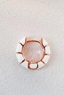 MorMajor Silver Tekli Mini Beyaz Gümüş Küpe