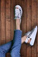 Riccon Beyaz Kadın Sandalet 0012999