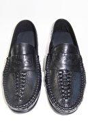 Baymen Örgü Hakiki Deri Erkek Ayakkabı