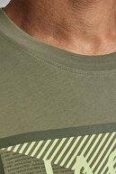 Jack & Jones JCOSHAWN TEE SS CREW NECK Haki Erkek T-Shirt 101069310