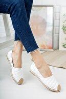 Moda Değirmeni Kadın Beyaz Kapitone Babet Md1010-111-0001