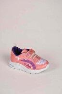 Weynes Kız Bebek Pudra Mor Cırt Cırtlı Spor Ayakkabı Ba20600
