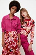 TRENDYOLMİLLA Çok Renkli Fırfırlı Bluz TWOSS21BZ0835