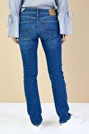 Colin's KADIN 792 Mıla Orta Bel Düz Paça Regular Fit Mavi Kadın Jean Pantolon CL1034581