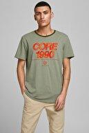 Jack & Jones JCOBERG TURK TEE SS CREW Haki Erkek T-Shirt 101069318