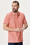 Altınyıldız Classics Erkek NARCICEGI-BEYAZ Düğmeli Polo Yaka Cepsiz Slim Fit Dar Kesim Düz Tişört