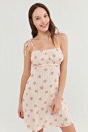 Penti Kadın Açık Pembe Ixia Flowers Pointel Elbise