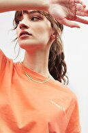 GRIMELANGE PARANOIA Kadın Narçiçeği Baskılı Oversize T-shirt