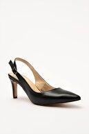 Hotiç Siyah Kadın Klasik Topuklu Ayakkabı 01AYH207120A100