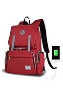 My Valice Smart Bag Mother Star Usb'li Anne Bebek Bakım ve Sırt Çantası Kırmızı