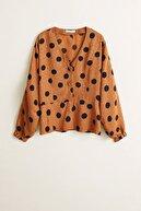 Mango Kadın Kahverengi Bluz 41043016
