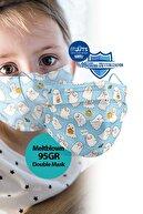 Medizer Sevimli Hayaletler Desenli 3 Katlı Meltblown Cerrahi Çocuk Maskesi 10'lu