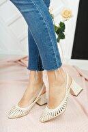 Moda Değirmeni Kadın Ten Cilt Topuklu Ayakkabı Md1042-119-0005