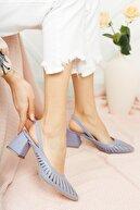 Moda Değirmeni Kadın Lila Cilt Topuklu Ayakkabı Md1042-119-0005