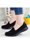DİVAMOD Kadın Siyah Akıllı Taban Günlük Ayakkabı