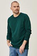 Altınyıldız Classics Erkek Yeşil Standart Fit Günlük Rahat Bisiklet Yaka Spor Sweatshirt