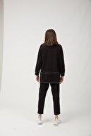 oia Kadın  Siyah Pamuklu Tunik Pantolon Takım