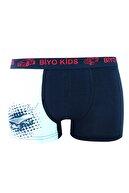 biyokids Erkek Çocuk Beyaz Baskılı Boxer 5'li Paket