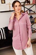 armonika Kadın Gül Kurusu Tunik Gömlek ARM-19Y001003