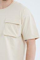 Cocers Erkek Taş Oversize Körük Cepli T-shirt