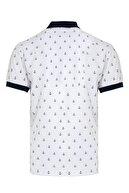 Hatemoğlu Beyaz Baskılı Polo Yaka Tişört