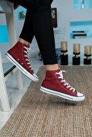 Bartrobe Unisex  Uzun Bilekli Keten Spor Ayakkabı Bordo