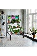Cosargroup Hobby Bahçesi Saksı Çiçek Stantı Saksılık Metal Demonte Çiçeklik