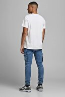 Jack & Jones JCOSHAWN TEE SS CREW NECK Beyaz Erkek T-Shirt 101069311