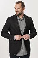 Altınyıldız Classics Erkek Siyah Slim Fit Dar Kesim Mono Yaka Blazer Ceket