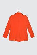 TRENDYOLMİLLA Kırmızı Düğme Detaylı Ceket TWOSS21CE0137