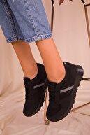 Soho Exclusive Siyah-Siyah Kadın Sneaker 15277