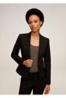 Mango Kadın Siyah Dar Kesim Takım Pantolonu 77082888