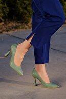 Daxtors Kadın Yeşil Günlük Klasik Topuklu Ayakkabı D2053