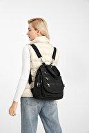 Smart Bags Kadın Siyah Krinkıl Kumaş Kol ve Sırt Çantası 1169