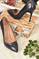 Fox Shoes Lacivert Kadın Topuklu Ayakkabı 8922151909