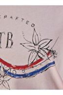 Ltb Kadın  Pembe  Baskılı Kısa Kol Bisiklet Yaka T-Shirt 012208038561430000