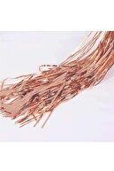 BİDOLUMUTLULUK Metalik Folyo Rose Gold Püskül Masa Eteği