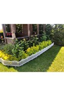 fullreyon Beyaz Bahçe Çiti Dekoratif Plastik Bahçe Çiti Peyzaj Koruma Paneli Beyaz