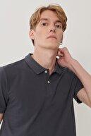 Lee Erkek Antrasit Regular Fit Polo Yaka T-Shirt