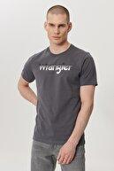Wrangler Erkek Antrasit Regular Fit Bisiklet Yaka T-Shirt