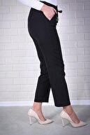 Essah Moda Kadın Siyah Lastikli Havuç Pantolon - Me000310