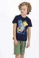 US Polo Assn U.s. Polo Assn Lisanslı Lacivert Genç Erkek Kapri Takım