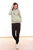 MARIQUITA Kadın Yeşil Mari Kapşonlu Sweatshirt