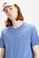 Levi's Erkek İndigo Logo Baskılı Bisiklet Yaka Pamuk T Shirt 566050079