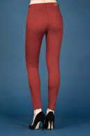 Colin's KADIN Super Slim Fit Orta Bel Skinny Leg Kadın Turuncu Pantolon CL1022208