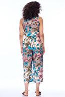 Pitti Kadın Mavi Çiçekli Tulum 40173